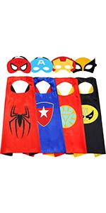 NuGeriAZ Superhero Capes for Kids 4PCS