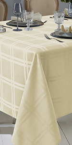 plaid table cloths rectangle 60 x 84 beige tablecloth