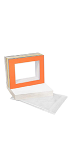 mix color 11 x 14 mat matting with backing board and clear bag