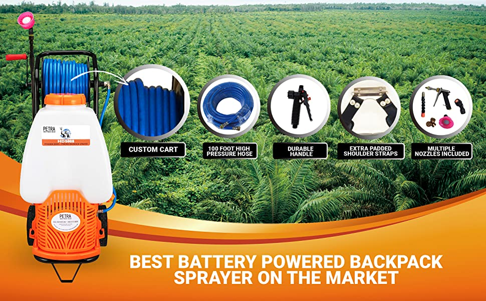 Get The Job Done Right With The Petra HD5000 Reel Cart Sprayer