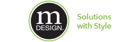 mdesign solutions with style more calm less clutter logo slogan