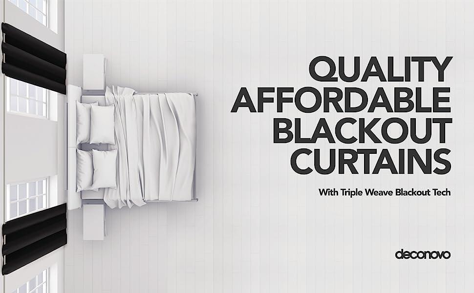deconovo black curtains for bedroom