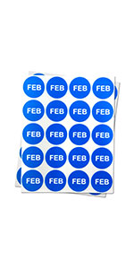 1PK |1 inch - Round Months of the Year: February Stickers