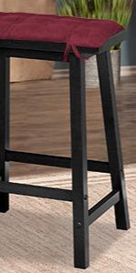 Saddle Stool Cushion seat gaucho satori barnett home decor foam ties barstool rectangle