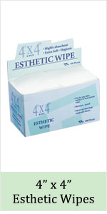 4x4 esthetic facial wipe wipes nonwoven cotton pad cleansing spa supplies gauze square esthetician