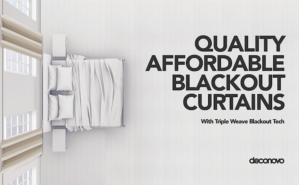 light beige blackout curtains for bedroom