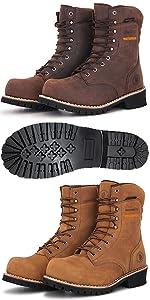 logger work boots rockrooster AP155 AP156
