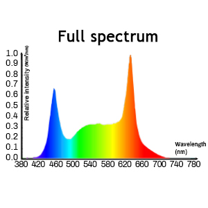 Spectrum of 50W grow light panel