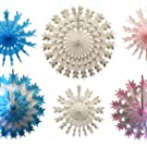 Pink Blue Snowflake Decorations