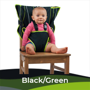 Cozy Baby Easy Seat Portable High Chair - Black/Green