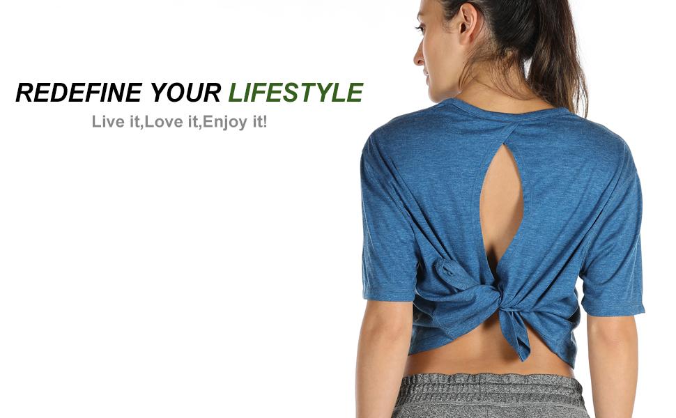 workout shirt for women yoga tops