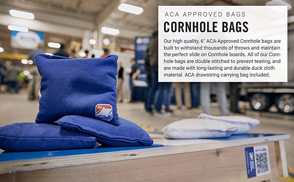 cornhole bags red white blue stars stripes regulation size corn weather duck cloth double stitch