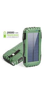 solar power bank 25000mAh