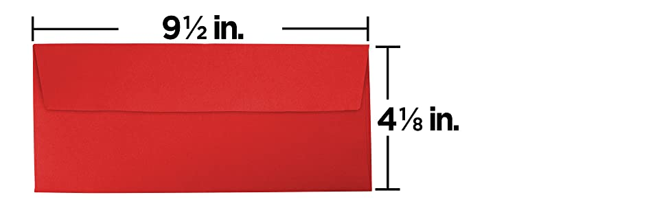 red #0 business colored envelope