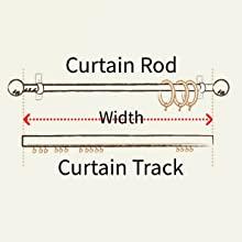curtain rod track measure curtains width