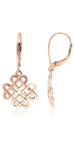 Love Knot Lever back Earrings