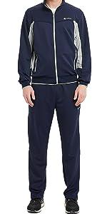 Men's Tracksuit Athletic Sports Casual Full Zip Sweatsuit