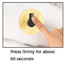 press the base