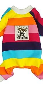rainbow dog pajamas