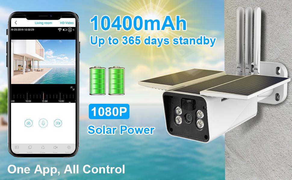 solar power battery camera wireless security camera video surveillance camera system