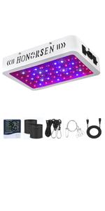 HONORSEN 600W LED grow light