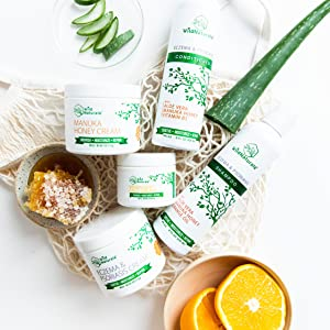 Wild Naturals Naturals Product line with Manuka Honey and Organic Aloe Vera