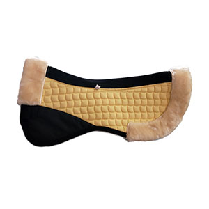 Faux Fur/Sheepskin Horse Half Pads-Yellow