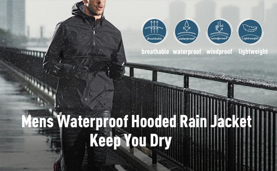 mens rain jacket lightweight