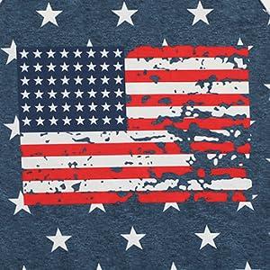usa flag and star print