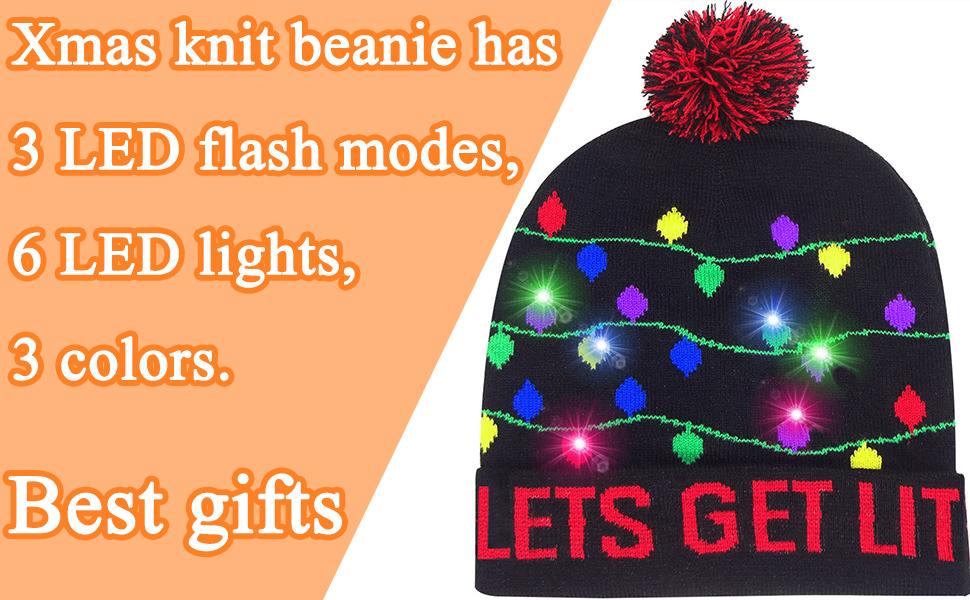 christmas LED hat