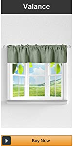 sage green valance for small window