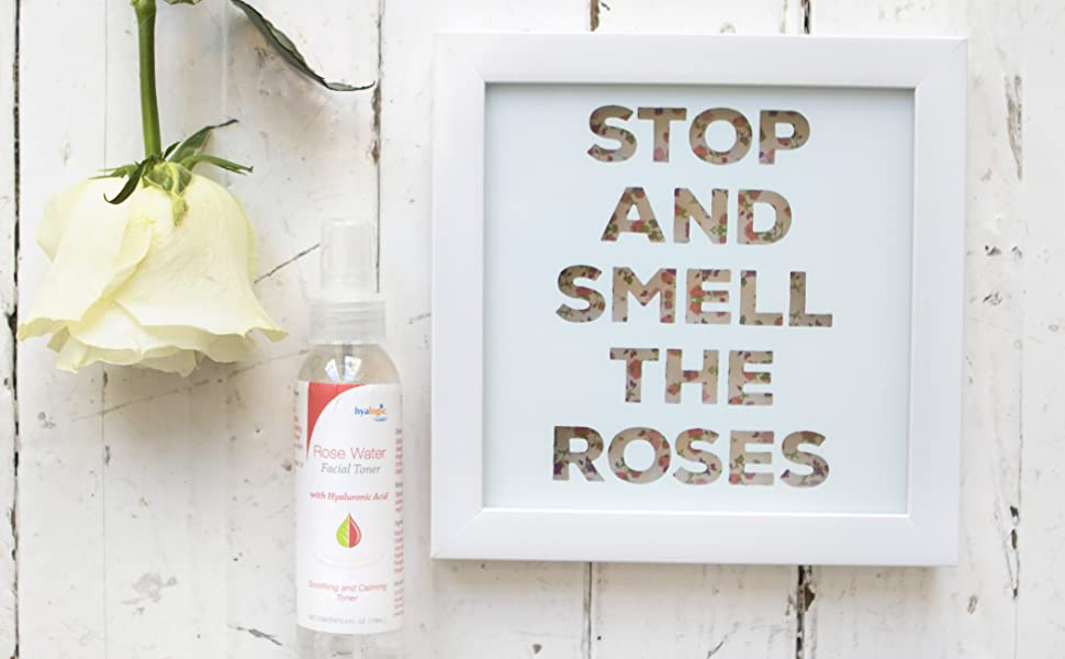 Rose Water Facial Toner with Hyaluronic Acid - Natural Toner SKIN- FRIENDLY SPRAY DEEP HYDRATION
