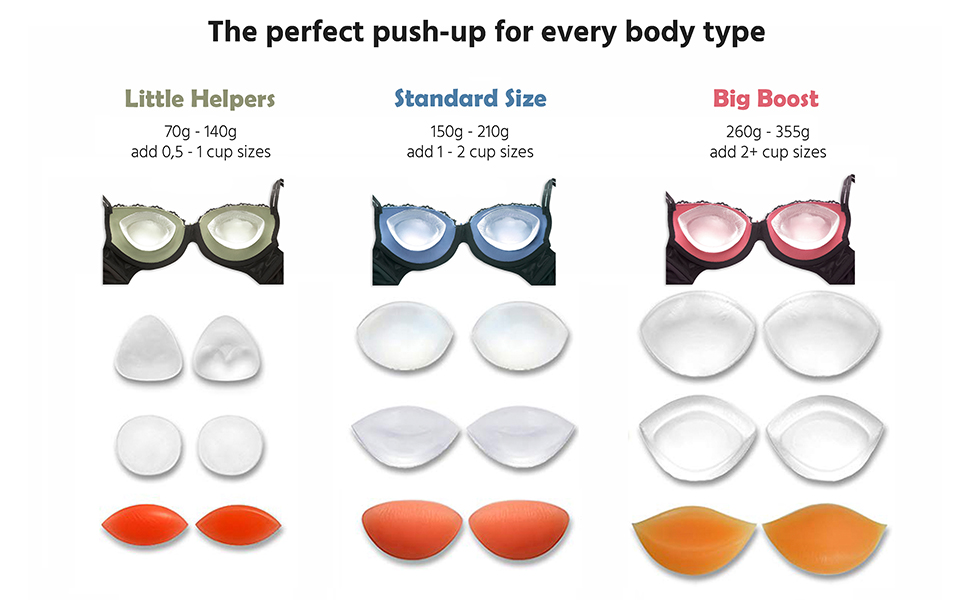 crossdresser pushup enlarge invisible silicone fake boob breast cleavage insert pad cup size gel