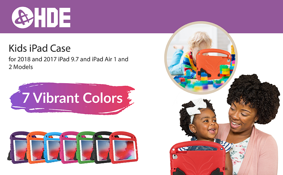 ipad shockproof case in seven colors