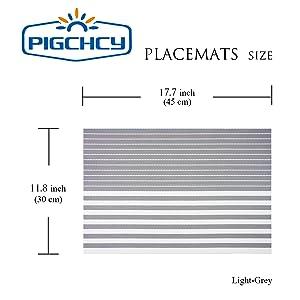 light grey placemats