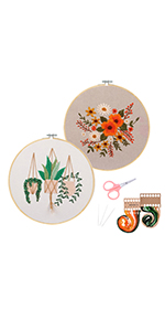 Embroidery Kit cross stitch kit  for beginner adults starter kit diy funny easy bamboo patterns