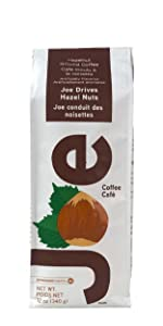 A perfect pair, toasty hazelnuts and fresh roasted coffee. Ground gourmet hazelnut flavored coffee