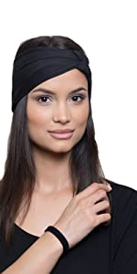 YOGA HEADBANDS for women running workout yoga. keeps your long or short hair in place