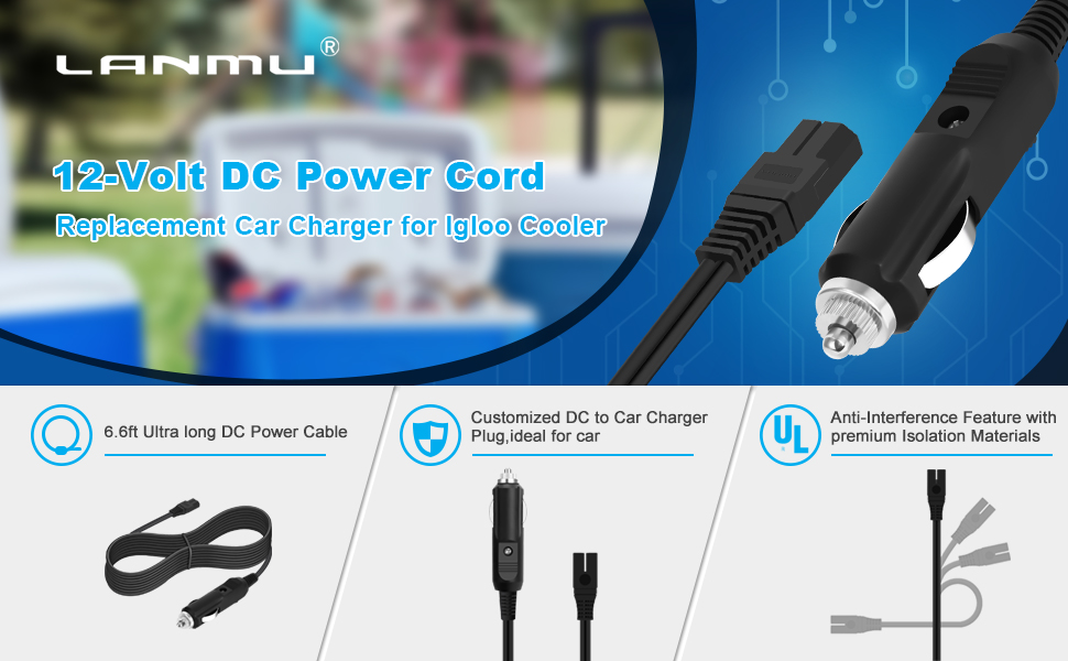 12-Volt DC Power Cord