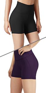ODODOS Tummy Control Yoga Shorts