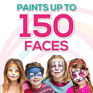 Paints up to 150 faces