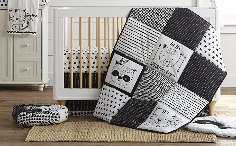 Allistar baby bedding blue grey navy levtex baby crib set