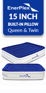 enerplex 15 in beds with built in pillow air mattress with pillow built in air pump fast inflation