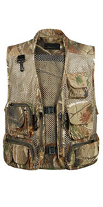 Men's Fishing Outdoor Utility Hunting Climbing Tactical Camo Mesh Removable Vest