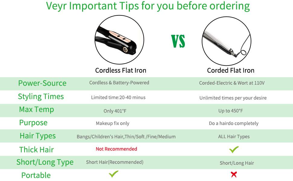 cordless flat iron
