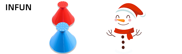 INFUN 4Pack Magical Car Ice Scraper 2 in 1 Multifunctional A Round Ice Scraper Cone-Shaped Magic Funnel Car Windshield Snow Removal Tool