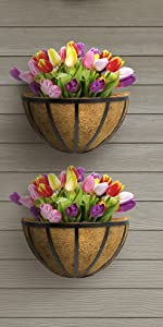 half planter baskets