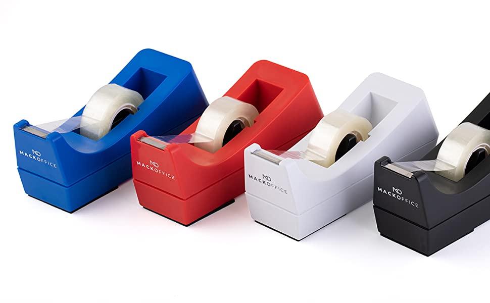 Desktop tape Dispenser in different colors, Red Tape Dispenser, Blue tape Dispenser, White Tape Disp