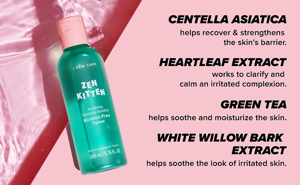zen kitten, alcohol-free toner