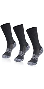 copper running socks for men women crew length